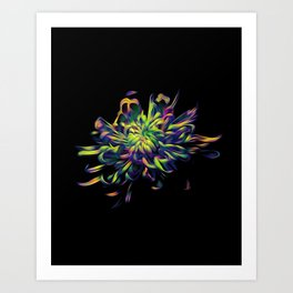 Rainbow Floral Art Print