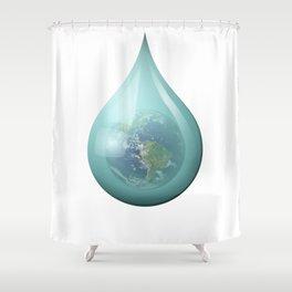 Teardrop 01. Shower Curtain