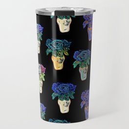 Gorgeous patterned floral beaded sculpture print by Annalee Beer Travel Mug