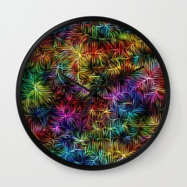 Rainbow Weaving Wall Clock
