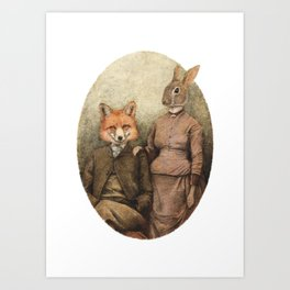 The Foxes Art Print