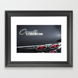 Corvette Sting Ray Emblem Framed Art Print