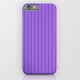 Amethyst with a Vertical Duo of Purple & Aqua Stripes iPhone Case