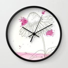 Echinacea Magic Wall Clock