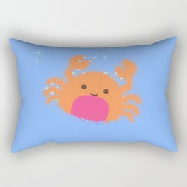 Orange Cartoon Crab Rectangular Pillow