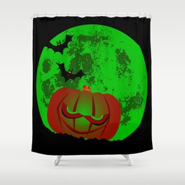 Full Halloween Moon Shower Curtain