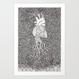 Mucho Corazon Art Print