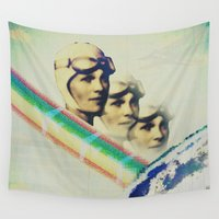 politics Wall Tapestries featuring Looking Up by Bunhugger Design