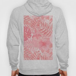Living Coral Tropical Palm Jungle Hoody