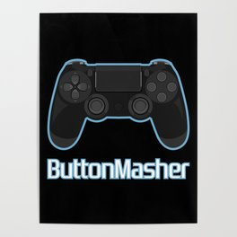 Button masher. Poster