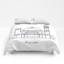 Mile End, Montréal. (Qc) Comforters