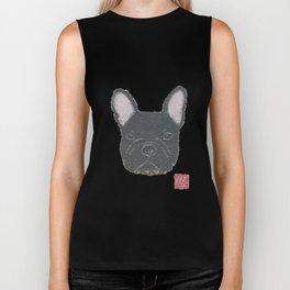 Black French Bulldog, FRENCHIE, Dog Biker Tank