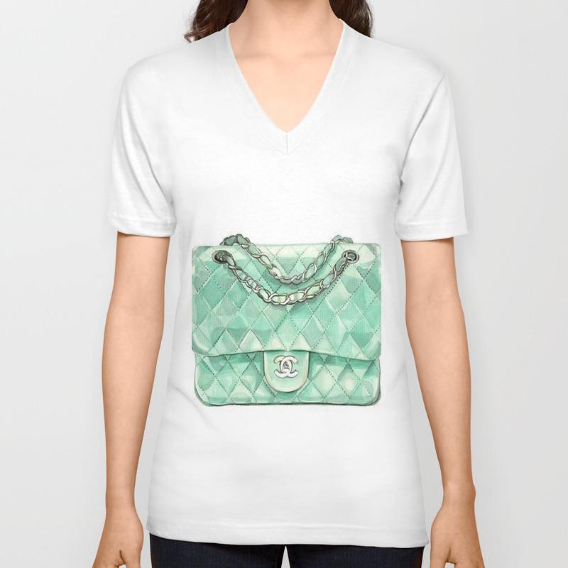 Designer Purse Unisex V-Neck T-shirt by thestylinghouse (VNT6275920) photo