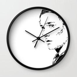 Isak b&w Wall Clock
