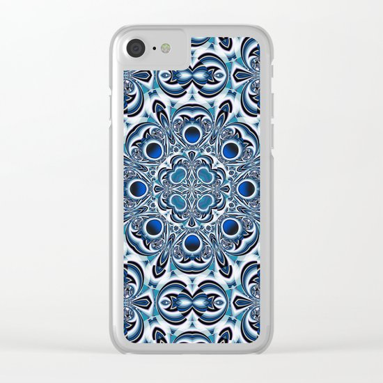 Snowflake fractal pattern Clear iPhone Case