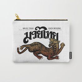 Kick Boxing Tattoo Tiger Carry-All Pouch