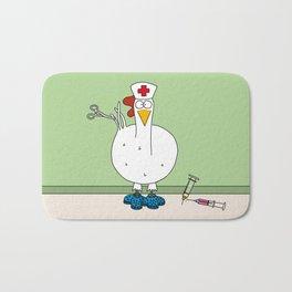 Eglantine la poule (the hen) dressed up as a nurse. Bath Mat