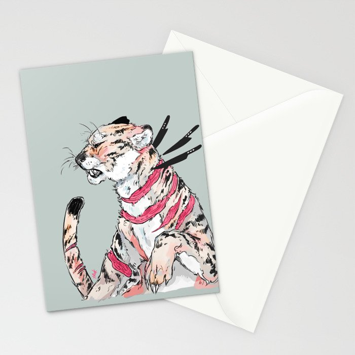 goopy knives Stationery Cards