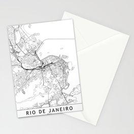 Rio De Janeiro White Map Stationery Cards