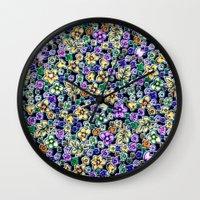 flora Wall Clocks featuring Flora by BellagioVista