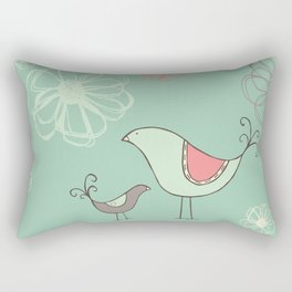 Birdies Gone Wild Revisited by Deirdre J Designs Rectangular Pillow