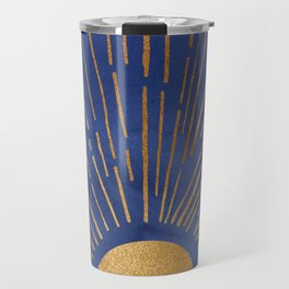 Twilight / Blue and Metallic Gold Palette Travel Mug