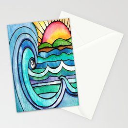 Beachy #society6 #spring #summer Stationery Cards
