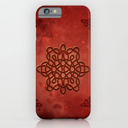 Elegant decorative celtic knot iPhone Case