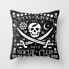 13th Moon Social Club 2012 Throw Pillow