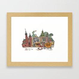 Old Europe. Krakow Framed Art Print