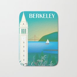 Berkeley, California - Skyline Illustration by Loose Petals Bath Mat