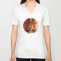 hemingway V-neck T-shirts featuring Been There Done That < The NO Series (Brown) by Wayne Edson Bryan