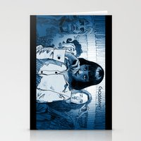 mia wallace Stationery Cards featuring Pulp Fiction - Mia Wallace by Rob O'Connor