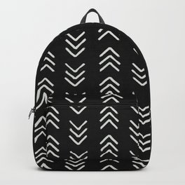 Charcoal & soft white brushed arrow heads, textured background Backpack