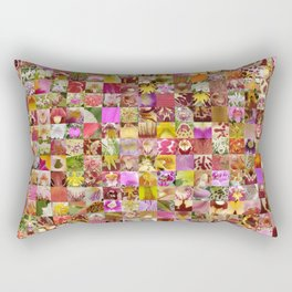 Orchid Montage Rectangular Pillow