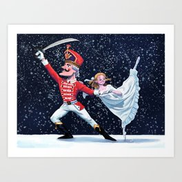 The Nutcracker with Clara Art Print