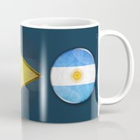 argentina Mugs featuring Argentina by ilustrarte