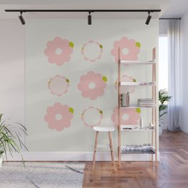 Pretty pink flowers Wall Mural
