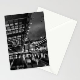 Boston view  under Zakim bridge from North Point Park Stationery Cards