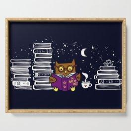 Owl Night Reader Serving Tray
