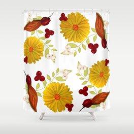 Autumn Gojis Shower Curtain