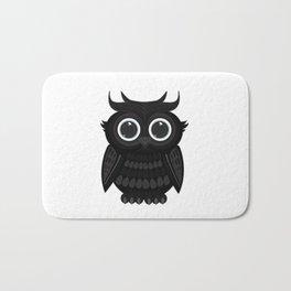 Black Owl Bath Mat