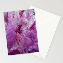 Rhododendron Lace Abstract  Stationery Cards