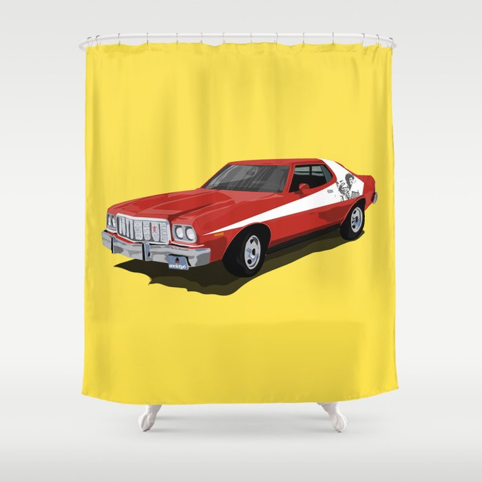 Starsky and Hutch car Shower Curtain by angelolarocca | Society6