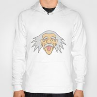 einstein Hoodies featuring Einstein by martinashdesign