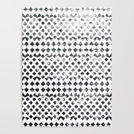Glimmering Sea Water Mosaic Poster