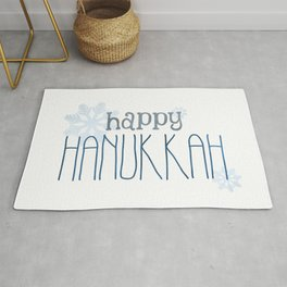 Happy Hanukkah | Snowflakes Rug