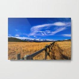 Distant Bighorns - Mountain Scenery in Northern Wyoming Metal Print