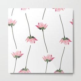 Lotos flower pattern Metal Print