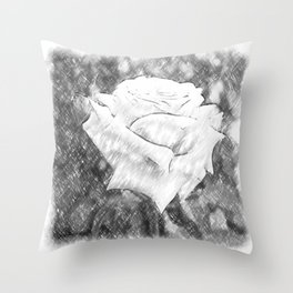 Pink Roses in Anzures 6 Charcoal Throw Pillow